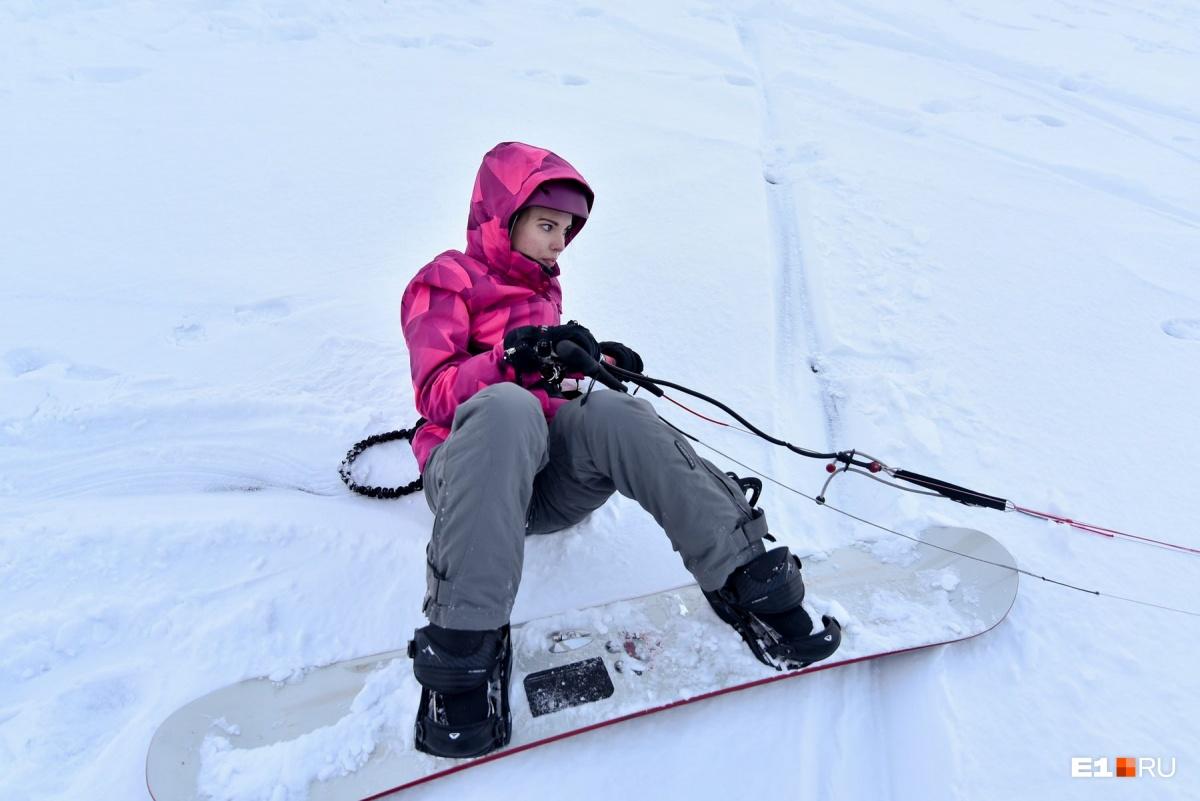 Сноуборд мне великоват (мягко говоря), но для пробы это неважно