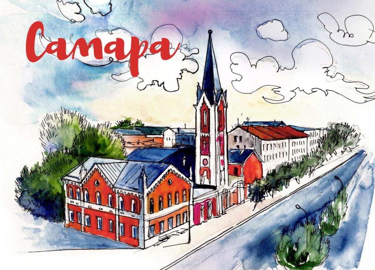 Приколы, открытки с видом на город