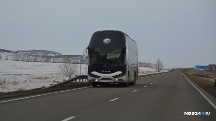 На маршруте до Железногорска остановили автобус с подложным номером