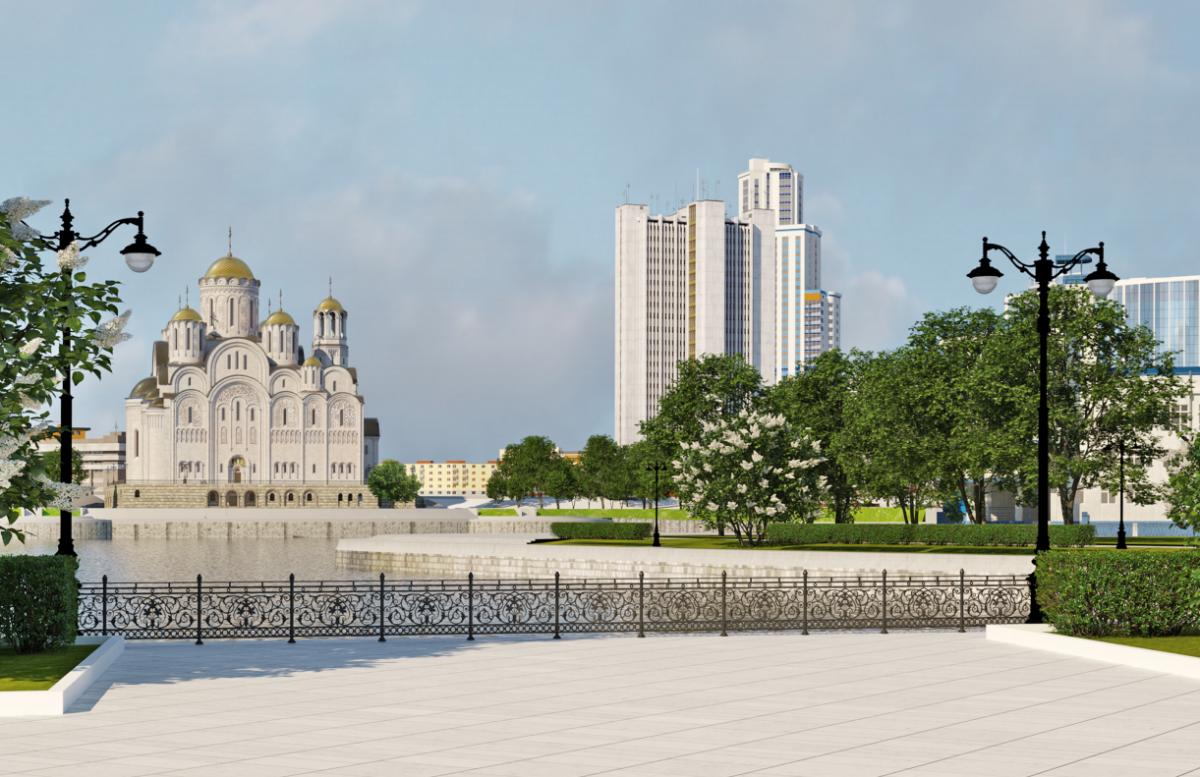 Храм-на-драме займет огромную площадь, на которой планируют проводить городские мероприятия