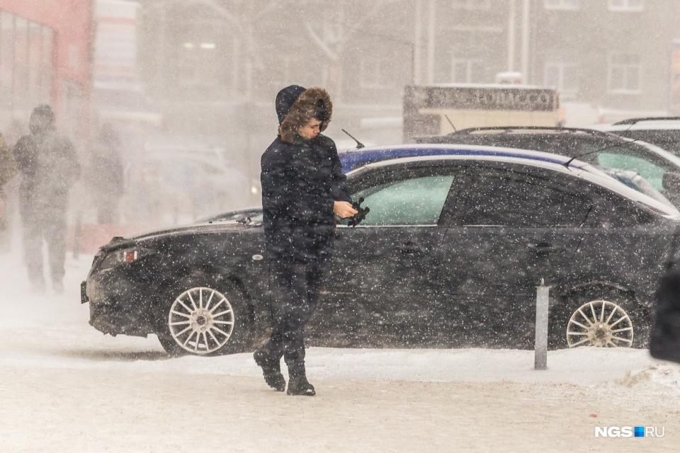 Снегопады в Новосибирске не будут утихать ещё два дня