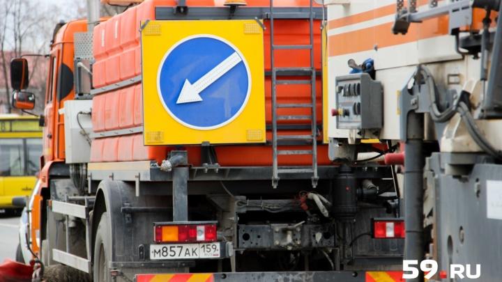 На трассе Нытва — Кудымкар ремонтируют дорогу. На время работ машины будут двигаться по одной полосе