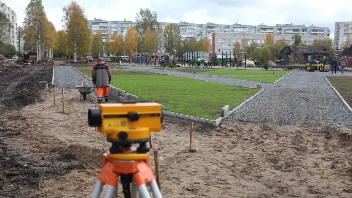 Завершение строительства сквера «Зарусье» откладывается на две недели