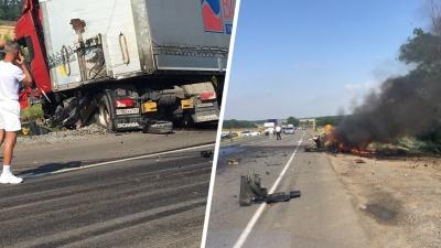 В аварии с грузовиком на Северном объезде погиб один человек