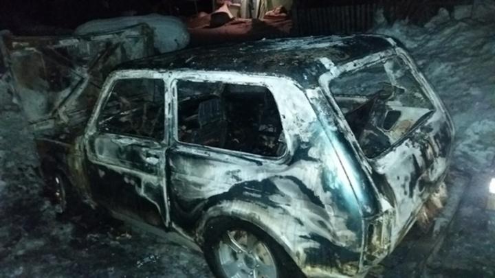 В Губахе мужчина сгорел в собственной «Ниве». Следователи начали проверку