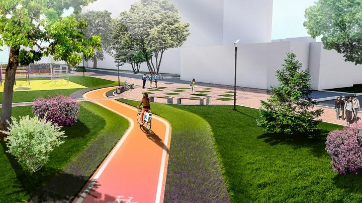 Скамейка-лента и «сухой» фонтан: рассматриваем и голосуем за проекты новых скверов и аллей