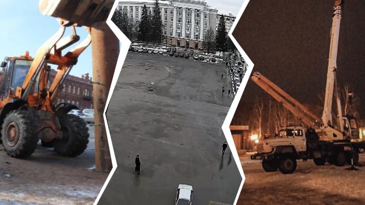 Елки Шредингера: в Уфе одну из новогодних елок экстренно убрали, а другую — не поставили в срок