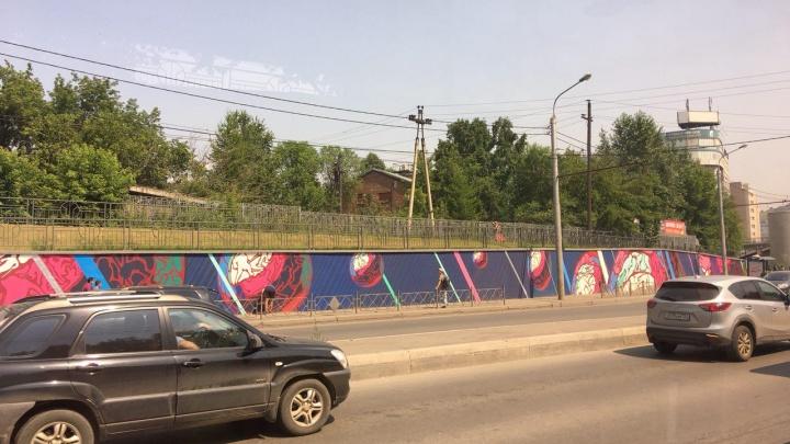 На остановке «Космос» появились яркие граффити