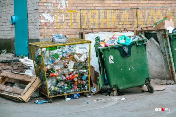 Специальные контейнеры для пластика можно встретить практически в каждом дворе&nbsp;<br><br>