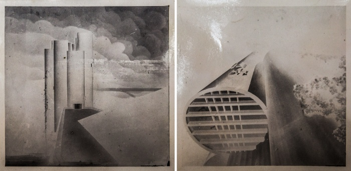 Модернистские здания были похожи на космические корабли — особенно на эскизах: кажется, сейчас он уберёт трап и полетит на другую планету