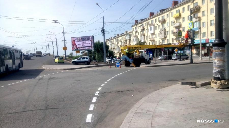 Пешеходный переход наулице Ленина появился после неоднократных просьб омичей