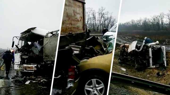 Возле Платова столкнулись два автобуса, грузовик и легковушка.Погибли два человека