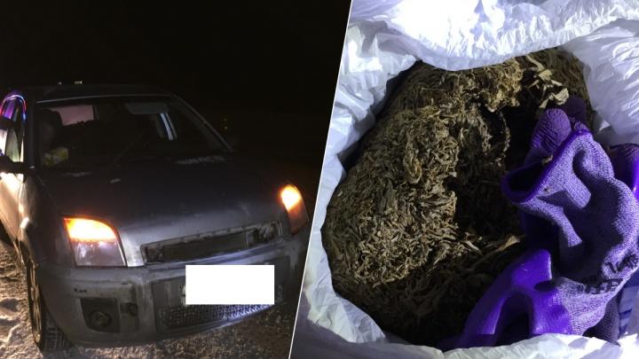 На Урале сотрудники ГИБДД остановили Ford и нашли в нем полкилограмма марихуаны