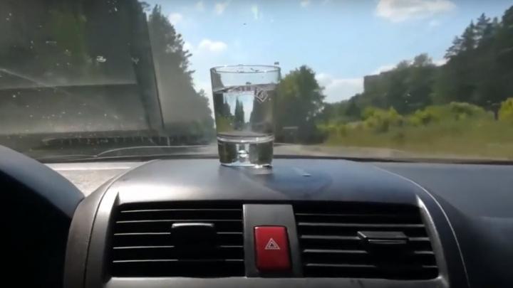 Новосибирцы проехались со стаканом воды по отремонтированной улице Балтийской