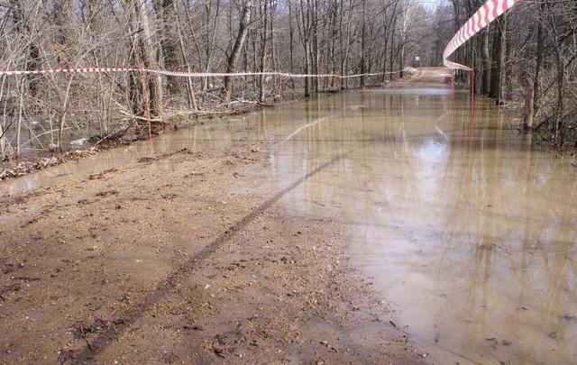 Под Уфой паводковыми водами затопило несколько дорог