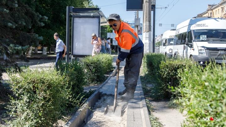 На 7-й Гвардейской в Волгограде после публикации V1.RU ремонтируют «убийственные» дорожки