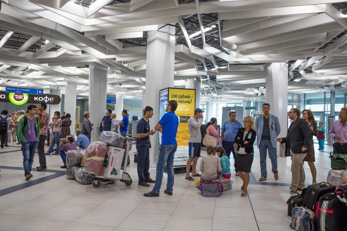 В аэропорту «Толмачёво»