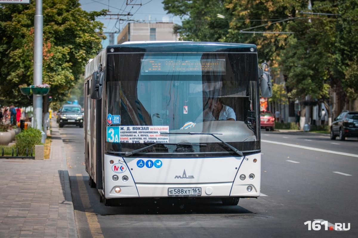 Несколько ростовских автобусов с Большой Садовой переместятся на Красноармейскую