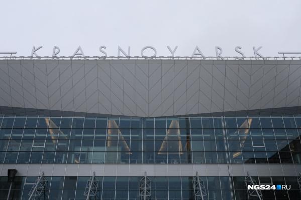 Самолет, прилетевший из Китая, совершал посадку в красноярском аэропорту