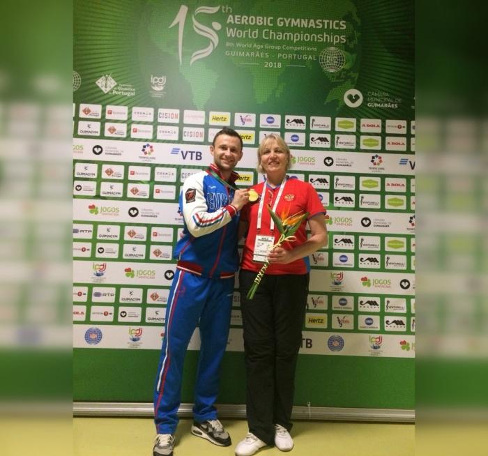 Кирилл Куликов вместе с тренером Любовью Матвеевой