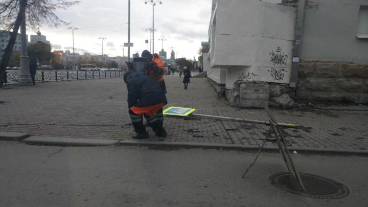 На проблемном перекрестке Ленина — Толмачева начали строить пешеходный переход