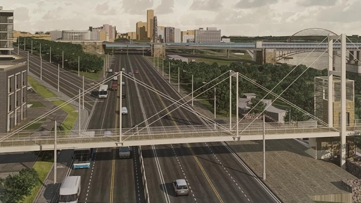 Власти показали проект нового надземного перехода через Большевистскую