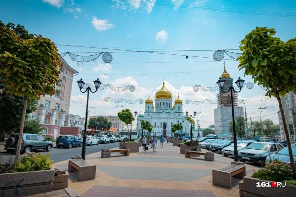 В городе уже есть несколько пешеходных зон. Одна из них— на Соборной площади
