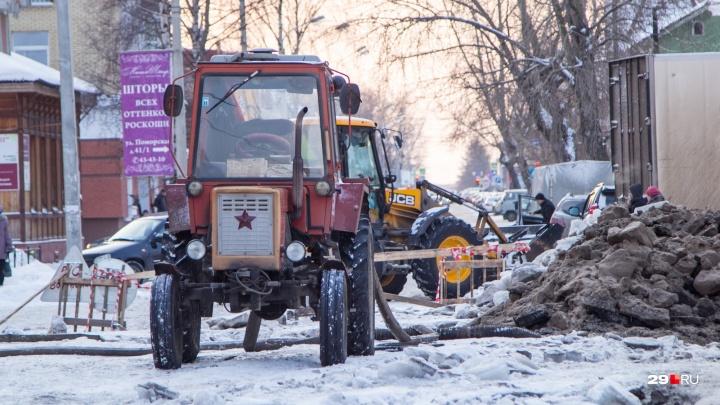 Центр, Сульфат, Гидролизный: смотрим, где в Архангельске не будет горячей воды и отопления 23 января