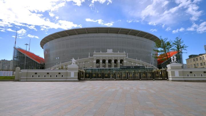 На «Екатеринбург Арене» начал обрушаться исторический фасад