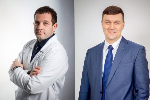 Роман Конев (слева) будет руководить больницей имени Вагнера, а Михаил Суханов (справа) — работать заместителем министра здравоохранения