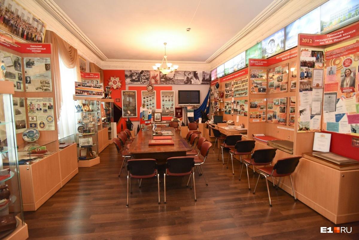 Музей занимает комнату в колледже Ползунова