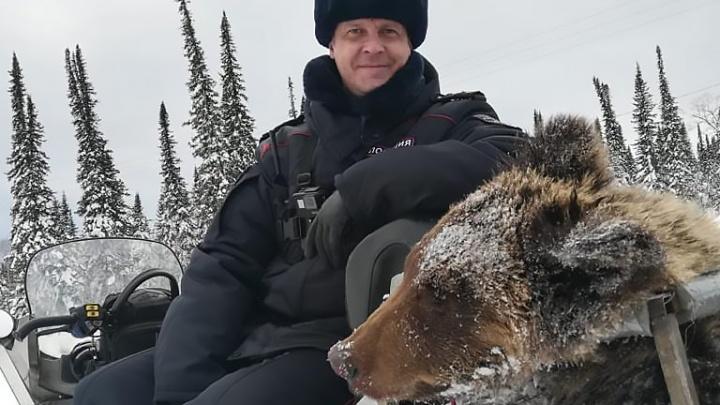На горнолыжную трассу в Шерегеше вышел медведь: его застрелили полицейские