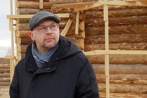 Алексей Иванов на съемочной площадке одного из фильмов кинокомпанииStar Media