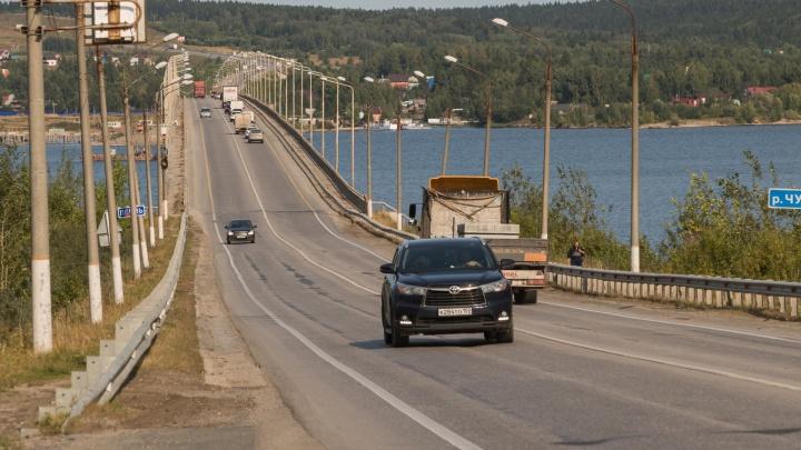 Ограничение движения по Чусовскому мосту продлится до 25 сентября