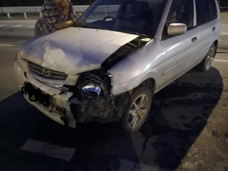 Неуступил дорогу: шофёр «Мазды» наСтанционной протаранил «Субару»