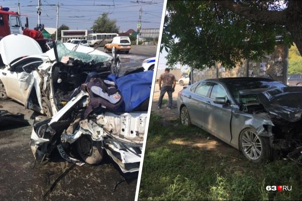 Участниками аварии стали три автомобиля
