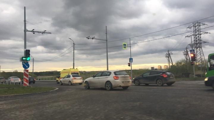 На Алебашевской столкнулись две маршрутки, есть пострадавшие