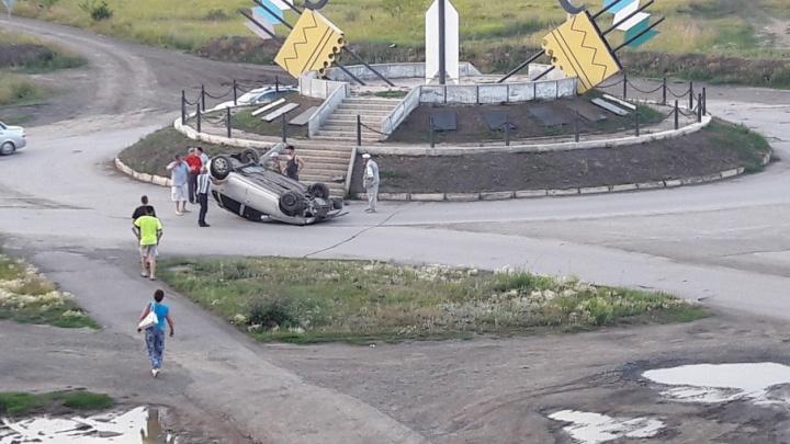 Ещё одна машина перевернулась на дорогах Башкирии