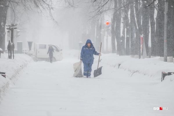 В Прикамье продолжаются снегопады