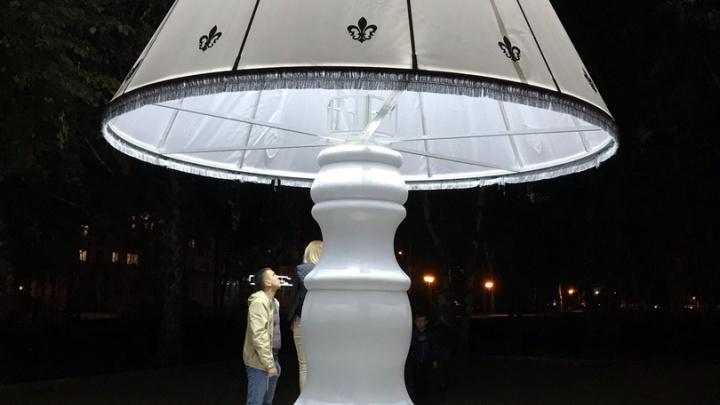 Ламповая атмосфера: в Стерлитамаке установили огромное бра