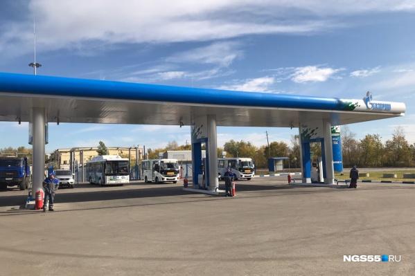 Первая метановая заправка на территории Омска открылась в начале октября