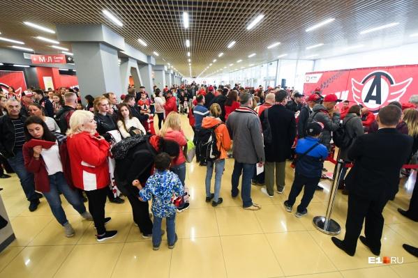 Столько людей в «Уральце» обычно только в дни матчей