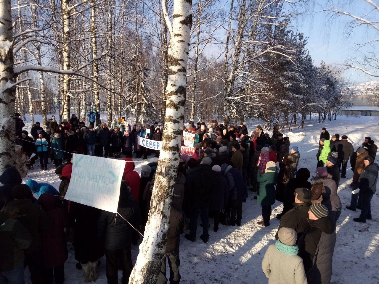 Митингующие в Красноборске