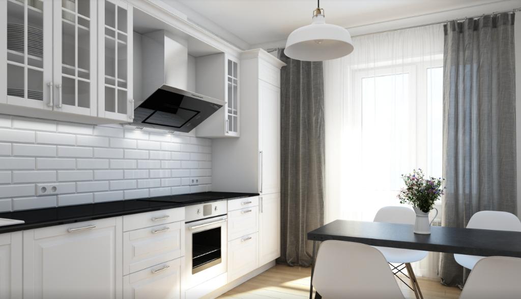 Фотоподборка квартир с большими кухнями