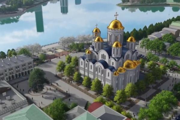 Так будет выглядеть храм, согласно эскизному проекту