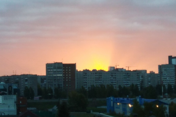 Солнце взошло над Новосибирском в 7:33