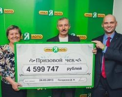 Сразу двух миллионеров поздравили в офисе компании «Урал Лото»