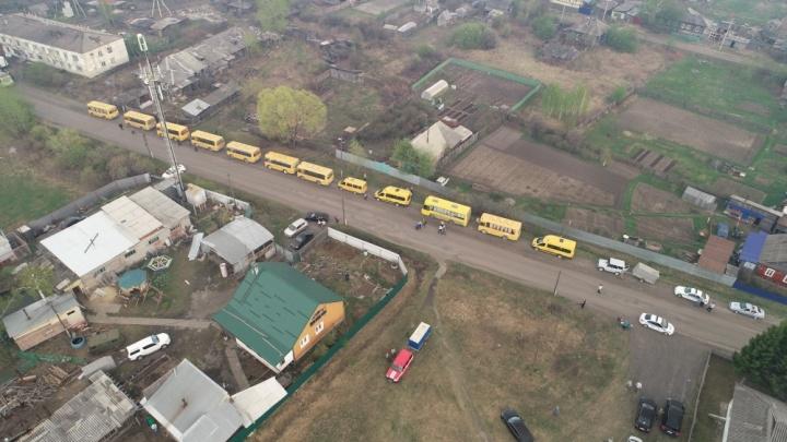 Заключенные исправительной колонии на Иковке переждут пожар без эвакуации