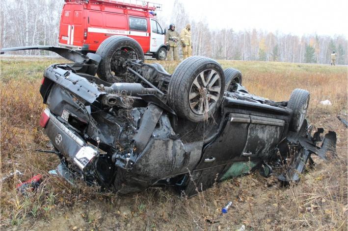 После аварииToyota Land Cruiser, вероятно, восстановлению не подлежит