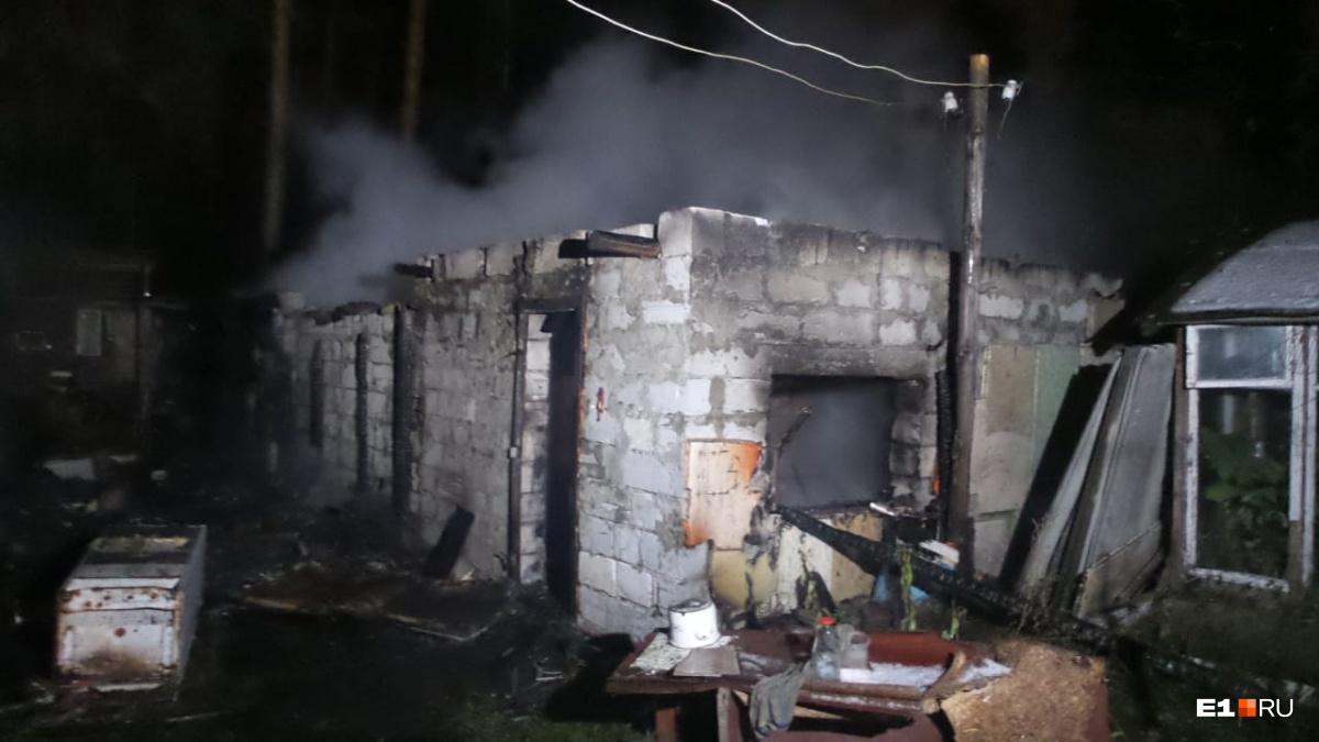 Дома сильно обгорели